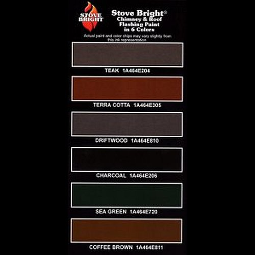 Stove Bright Chimney & Roof Flashing Paint Chart