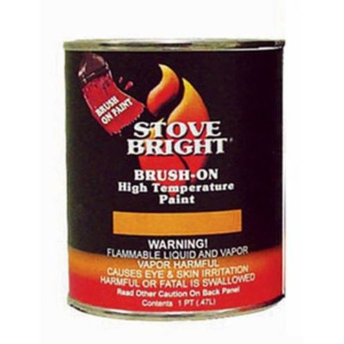Stove Bright Satin Black Brush - On 1200 Degree Paint - pint