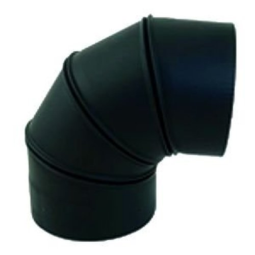 6'' 90 Degree Adjustable 22GA Black Elbow