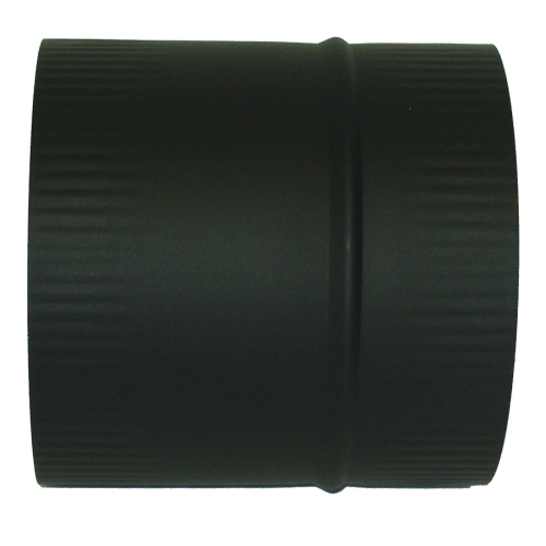 6'' Black 22GA Male to Male Coupling