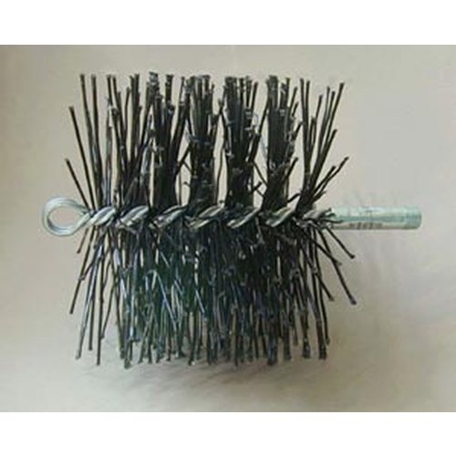 7'' Round Heavy Duty Poly Brush - 3/8'' thread