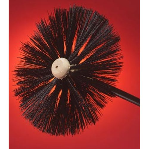 Wood Center Chimney Brushes—Threaded