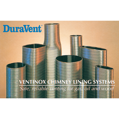 3 in. Ventinox VFT Stainless Steel Chimney Liner