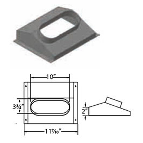 Round to Oval Insert Boot Adapter