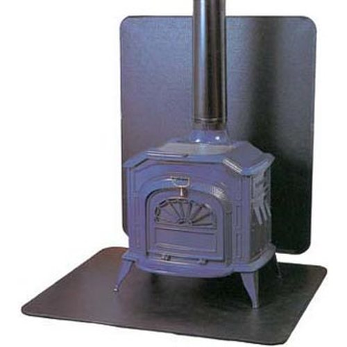 Wood Stove Wall Board : Wood coal stove accessories board hearth ext