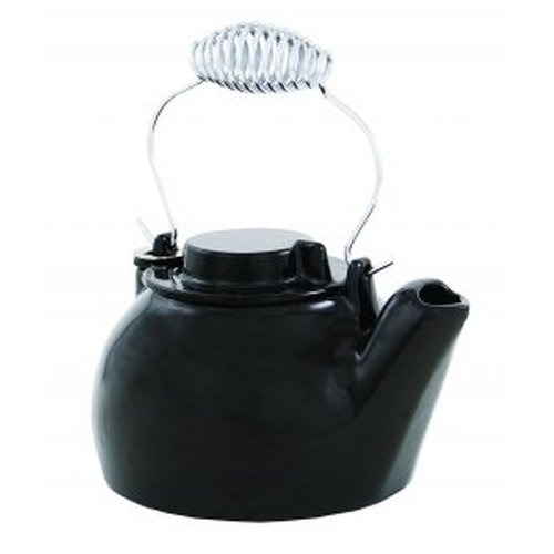 2 1/2 Qt. Cast Iron Humidifying Kettle - Black Enamel
