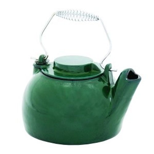 2 1/2 Qt. Cast Iron Humidifying Kettle - Green Enamel