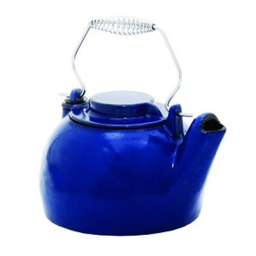 2 1/2 Qt. Cast Iron Humidifying Kettle - Blue Enamel