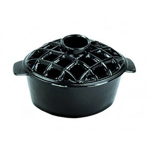 2.2 Qt. Lattice Steamer Black Enamel