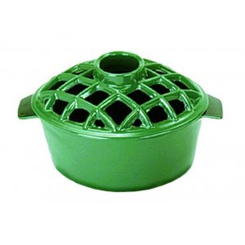 2.2 Qt. Lattice Steamer Green Enamel