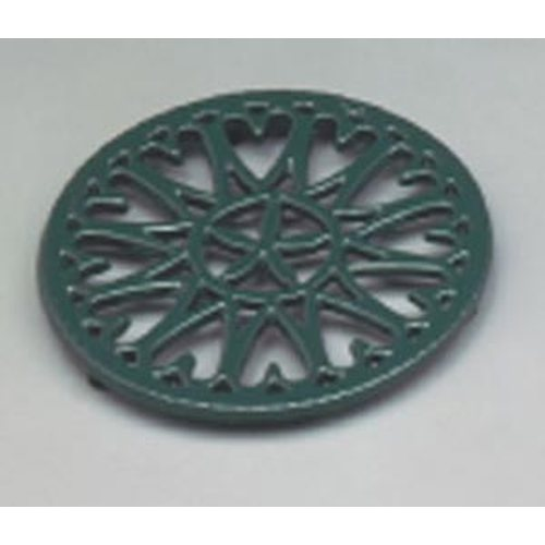 7'' Shiny Green Enamel Trivet