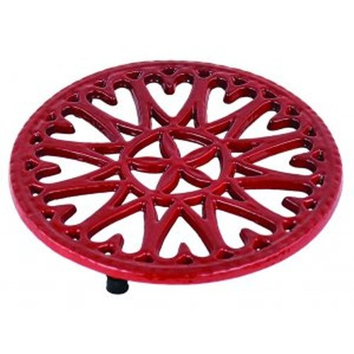 7'' Shiny Red Enamel Trivet