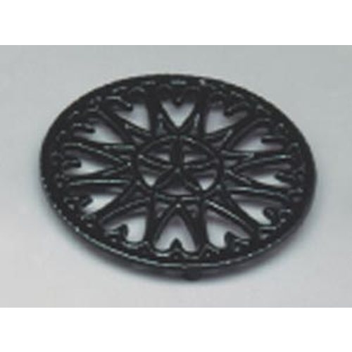 7'' Shiny Black Enamel Trivet