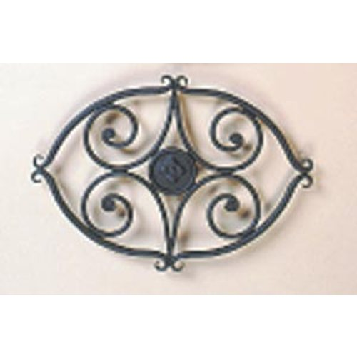 8 1/2'' X 11 1/2'' Wrought Iron Trivet Scroll