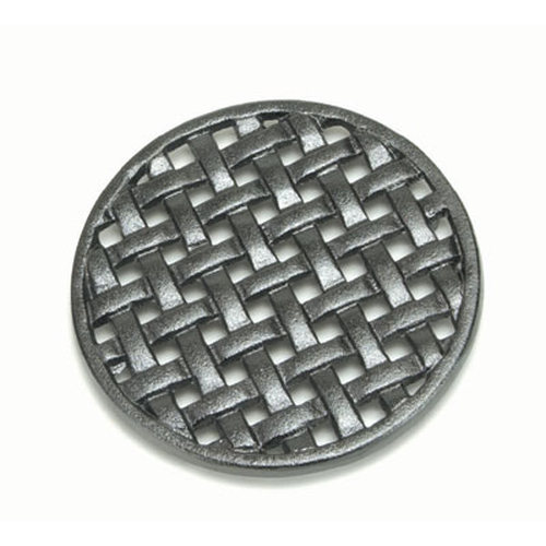 6-3/4'' Round Cast Iron Matte Black Trivet